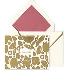 Kate Spade Golden Floral Thank You Cards